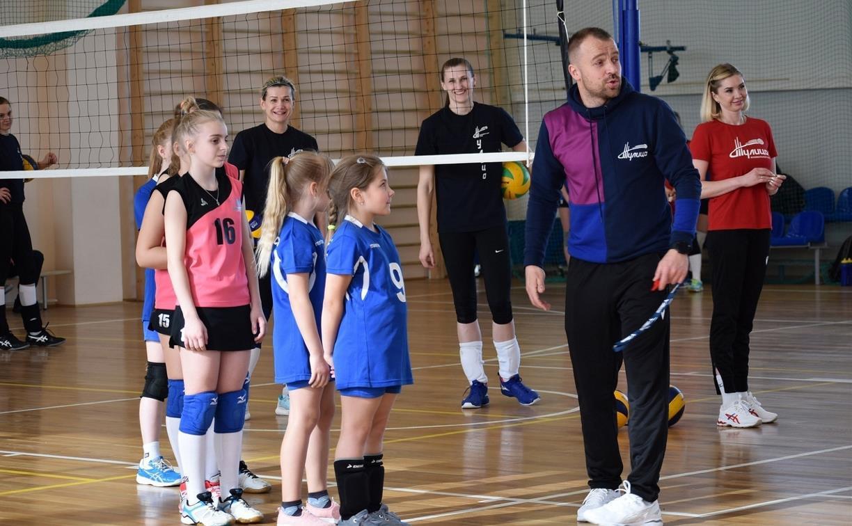 Волейболистки «Тулицы» провели мастер-классы для детей и взрослых