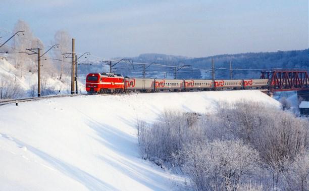 Снегопад в Тульской области не повлиял на график движения поездов