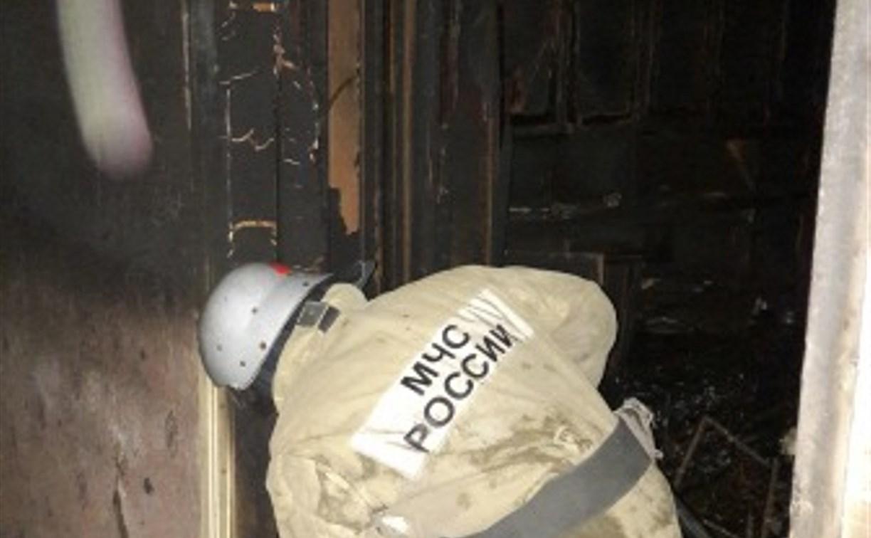 При пожаре в Кимовске пострадал человек