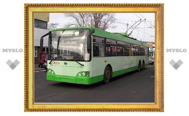 Тульские троллейбусы на выходные изменят маршрут