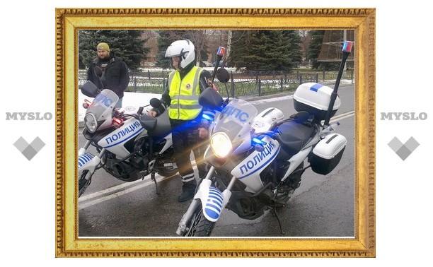 Тульских гаишников пересадили на скоростные мотоциклы