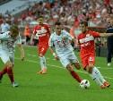 После первого тайма «Арсенал» проигрывает московскому «Спартаку» со счетом 0:2