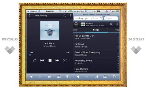 Музыкальный сервис Google заработал на iPhone и iPad