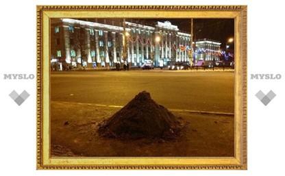 На тульские улицы высыпали 640 тонн песка