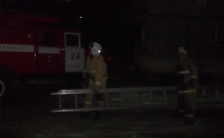 На пожаре в Плавском районе пострадал человек