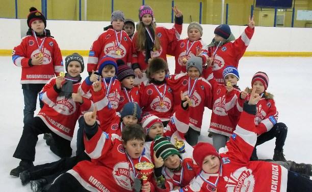 Новомосковские хоккеисты отпраздновали викторию в Брянске