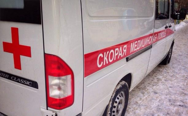 В Киреевском районе перевернулся автомобиль скорой помощи
