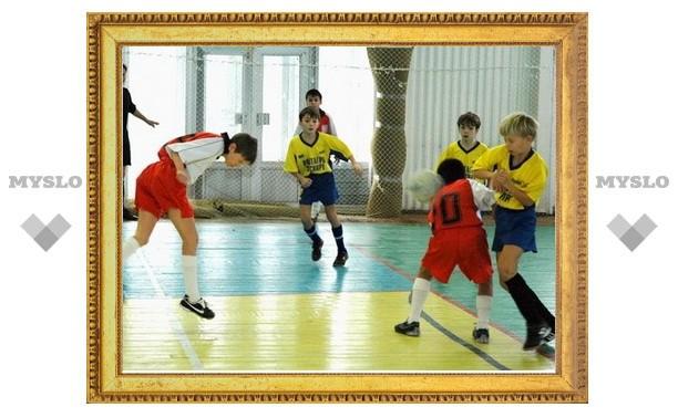 Школьники Тульской области сыграли в мини-футбол