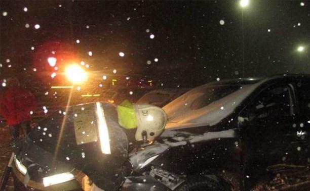В Узловском районе столкнулись четыре автомобиля