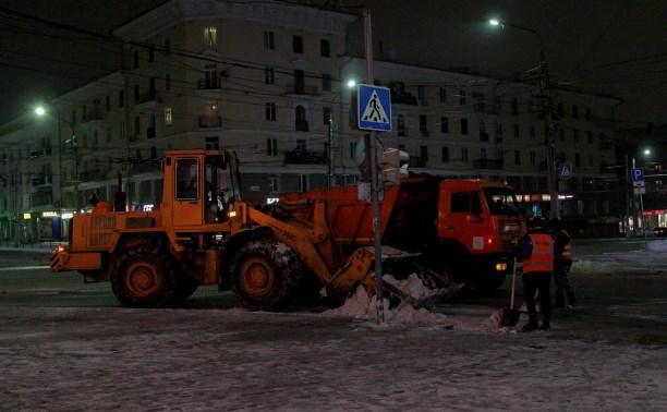 В ночь на 30 января тульские улицы убирали 107 единиц техники