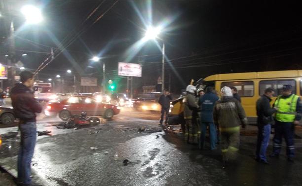 В ДТП с мотоциклом на ул. Октябрьской виноват водитель маршрутки