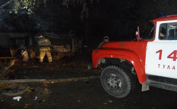 В Туле на Косой Горе перевернулся автомобиль