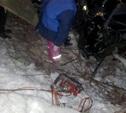 В Воловском районе перевернулась иномарка