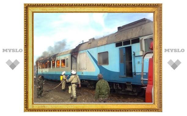 В Тульской области из-за жары загорелся поезд
