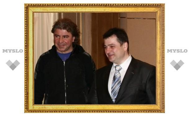 Сосо Павлиашвили приехал поздравить тульского губернатора