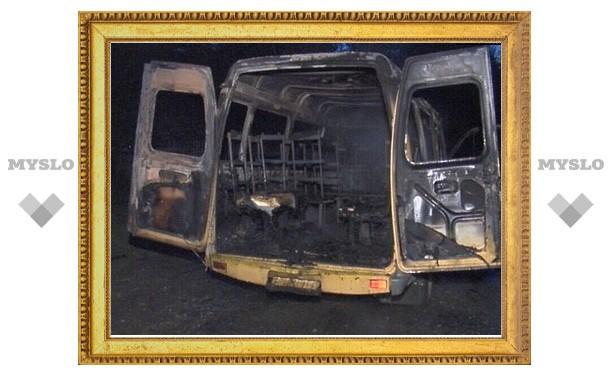 На трассе «Тула-Новомосковск» сгорела ГАЗель