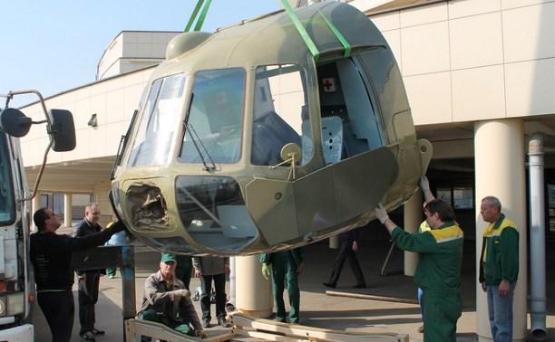 В Тульском государственном музее оружия установили кабину вертолёта Ми-8ТВ
