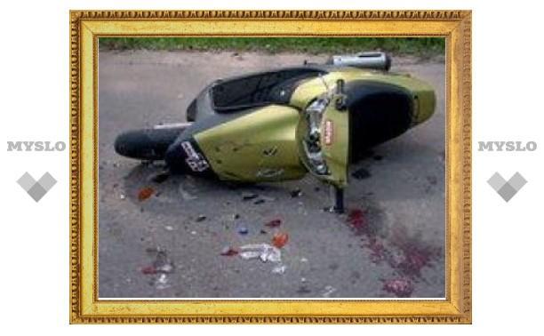 В Тульской области подросток на скутере улетел в кювет
