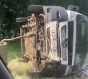 В Рязанской области перевернулся микроавтобус с тульскими номерами
