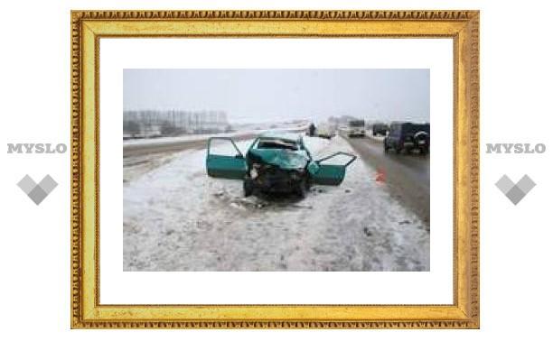 На трассе Тула-Новомосковск столкнулись 3 автомобиля (ФОТО)