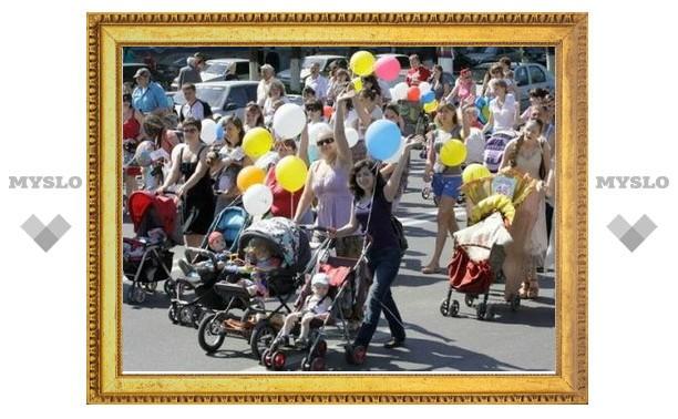 Из-за Парада мам и детей в Туле перекрыто движение