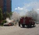 На проспекте Ленина в Туле на ходу загорелся автомобиль