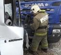 Мужчина пострадал в столкновении грузовика «Скания» и «Газели» в Туле