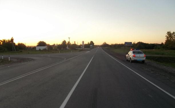 В Тульской области в тройном ДТП пострадал мужчина