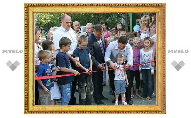 В Туле появилась еще одна детская площадка
