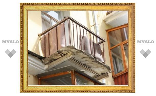 Тульские подрядчики не успевают отремонтировать балконы в срок