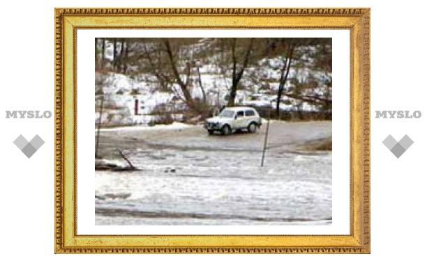 В Тульской области затопило мост