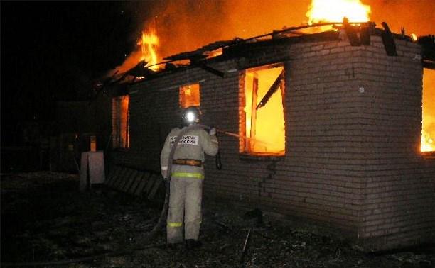 На пожаре в Заокском районе погиб мужчина