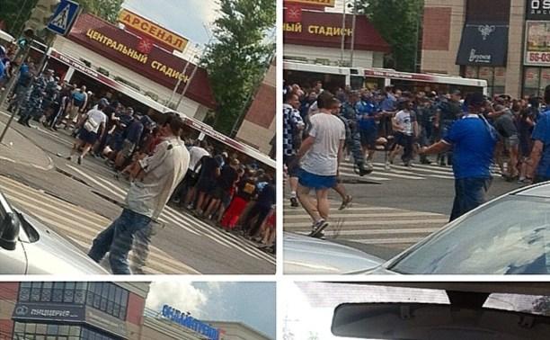 На остановке «Стадион» в Туле подрались болельщики