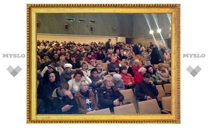 Сотни богородчан собрались на встречу с Груздевым в местном ДК