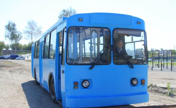 На набережной Упы троллейбус переделают в детскую игровую зону