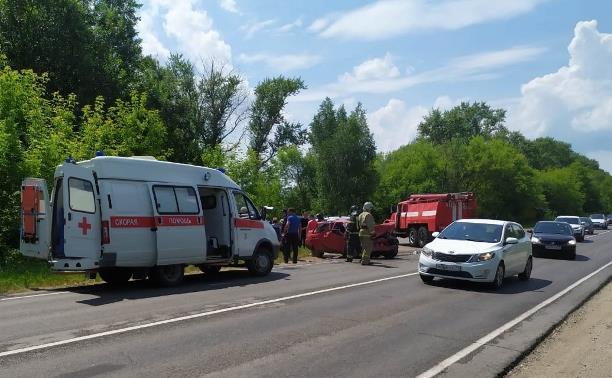 В ДТП в Кимовском районе пострадали семь человек