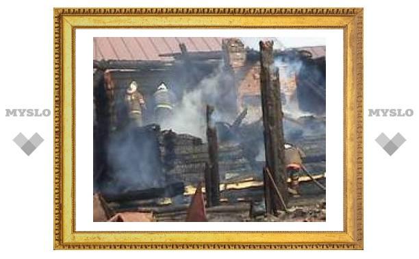 Под Тулой гость спалил хозяйский дом