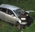 В Узловой в съехавшей в кювет «Мазде» пострадали три человека