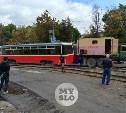 В Туле на ул. Оборонной трамвай сошел с рельсов