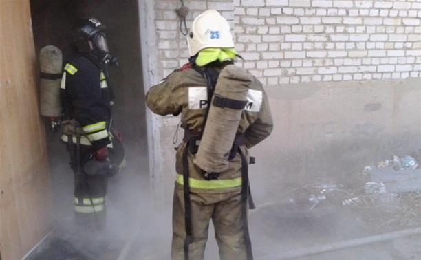 В Новомосковске при пожаре погиб человек