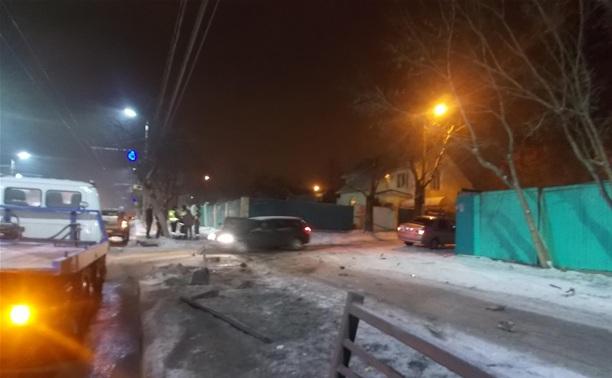 В Туле иномарка протаранила ВАЗ