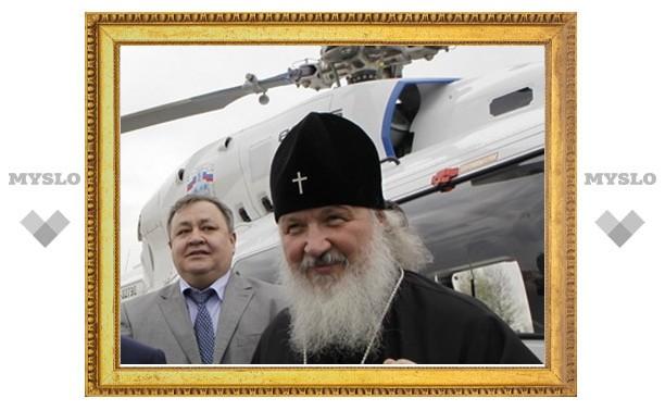 Патриарх Кирилл с минуты на минуту должен прилететь на вертолете