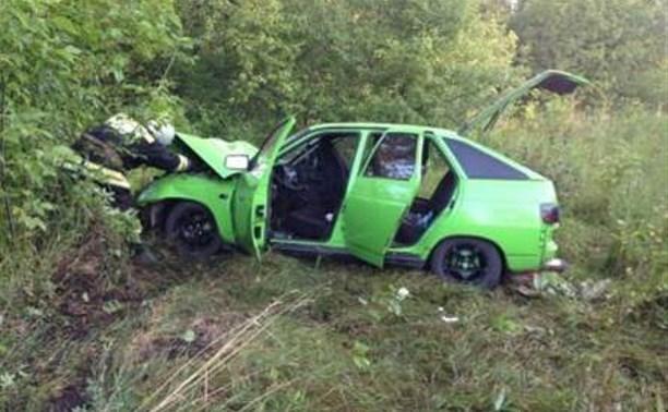 В Тульской области в результате аварии два ВАЗа вылетели в кювет