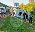 В Тульской области фура влетела в автобус: перекрыта трасса М-2