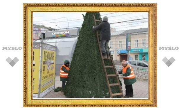 На улицах Тулы установят 36 новогодних елей