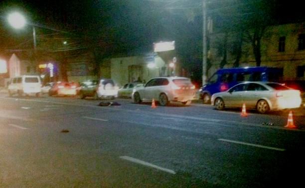 В Туле на ул. Октябрьской пешехода сбили сразу два автомобиля