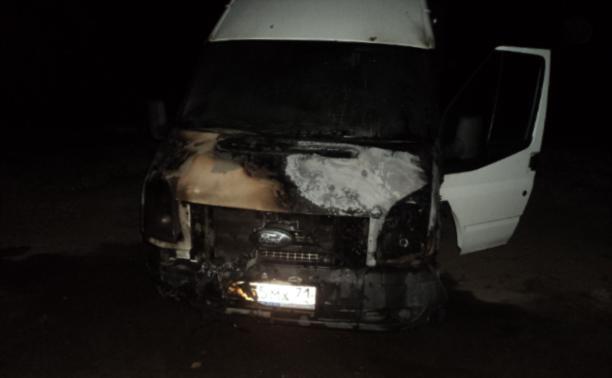 В Киреевском районе сгорела маршрутка