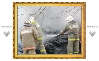 Под Тулой заживо сгорели три человека