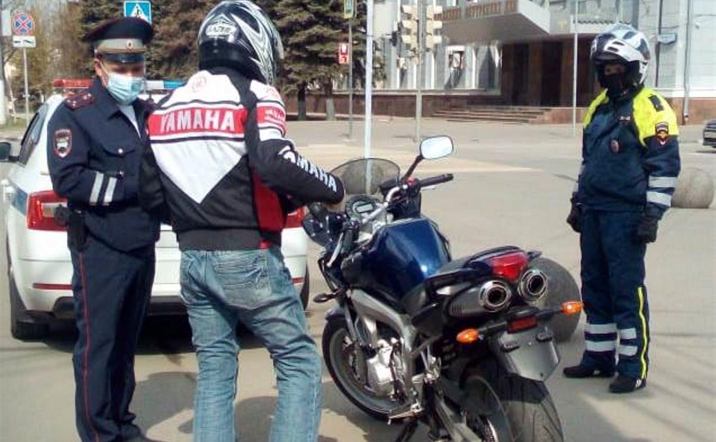 В Туле 80 байкеров оштрафовали за нарушения ПДД