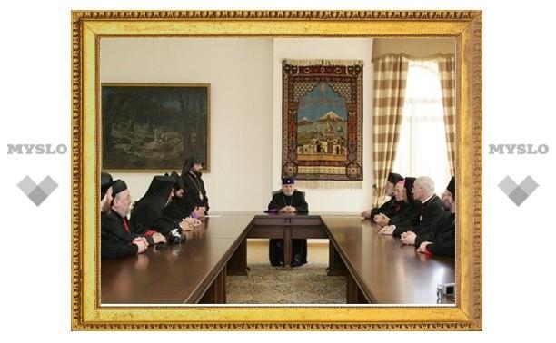 Епископы христианских Церквей Сирии посетили Эчмиадзин